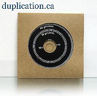 Recycled Cardboard Sleeve for CD with Hole, 500 pieces with Free Shipping in Canada & USA