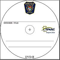 100 personalised blank DVD-Rs, inkjet printed