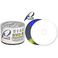8X White Inkjet Printable DVD-R 50pk