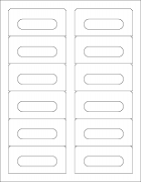 White Gloss Audio Cassette Labels for Laser Printers - 12 Up, Square Bottom Corners