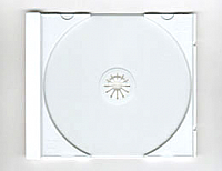 White CD Tray for Jewel Box