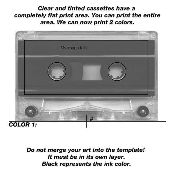 Low Res Cassette Pad Print Template