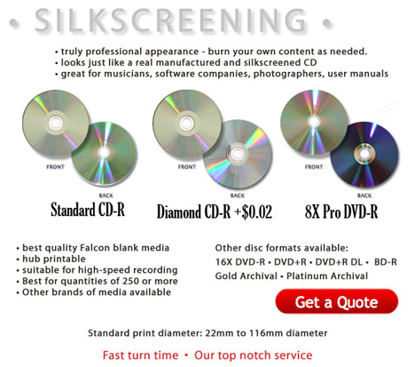Cd R Silkscreen Dvd R Silkscreening On Blank Discs