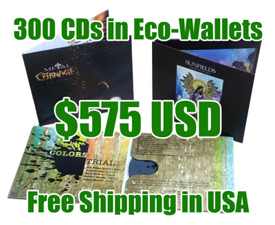 300 CDs in Eco-Wallets for $575 With Free Shipping in USA