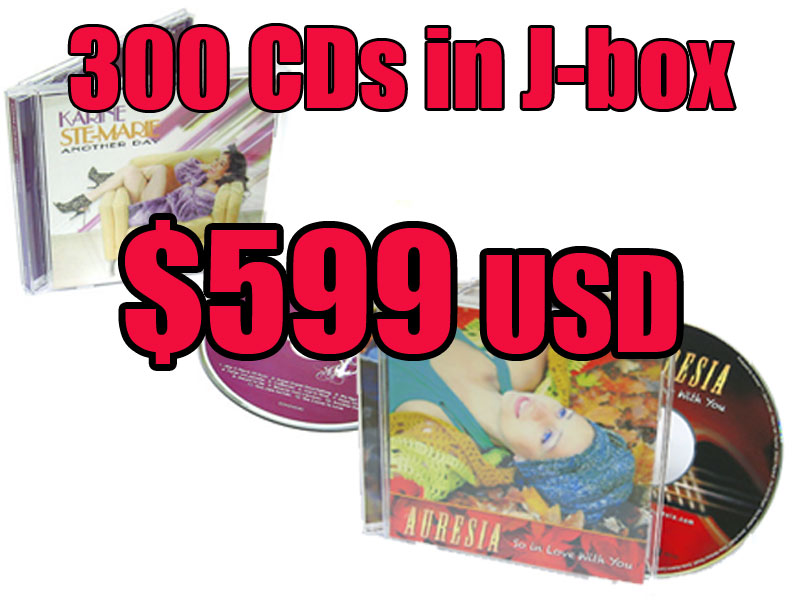 CD Jewel Box Deal 300 for $599